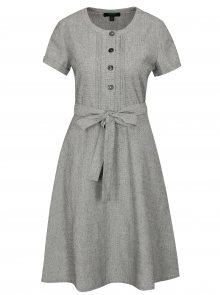 Šedé šaty s příměsí lnu Fever London Juno