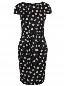 Černé puntíkované pouzdrové šaty Closet