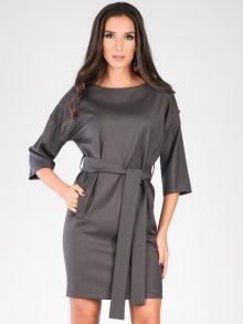 Carla by Rozarancio Dámské šaty CR17F P3007_ANTRACITE
