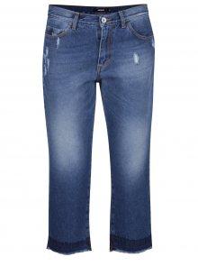 Modré 3/4 džíny s potrhaným efektem Alchymi Lima