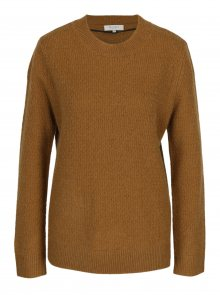 Hnědý svetr s příměsí vlny a alpaky Selected Femme Cabala