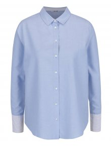 Světle modrá košile s průsvitnými plisovanými zády TALLY WEiJL