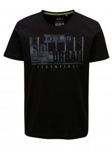 Černá pánské regular fit tričko s potiskem s.Oliver