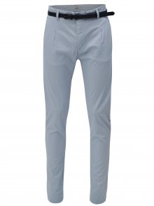 Světle modré chino kalhoty s páskem Dstrezzed
