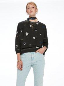 Scotch&Soda šedá mikina Dropped Shoulder Sweater - XS