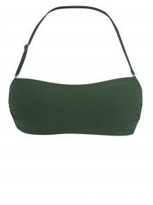 Tmavě zelený horní díl plavek s odepínatelnými ramínky ZOOT