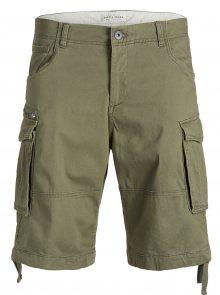 Khaki comfort fit kraťasy s kapsami Jack & Jones Chop