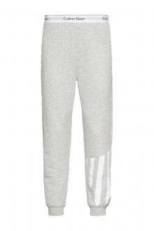 Calvin Klein šedé pánské tepláky Jogger s potiskem - M