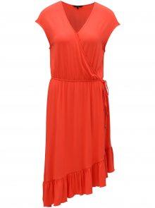 Červené asymetrické šaty VERO MODA Gloria