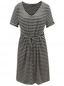 Krémovo-černé pruhované šaty Dorothy Perkins Tall
