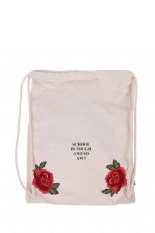 Vak Canvas School is tough Rose s nášivkou