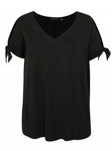 Černé tričko s krátkým rukávem Dorothy Perkins Curve