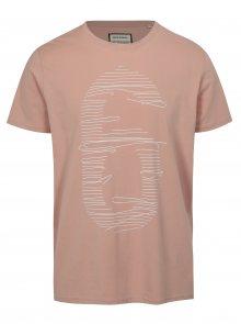 Světle růžové tričko s potiskem číslice Shine Original