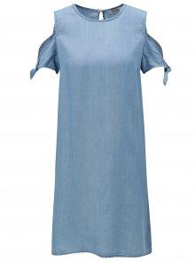 Modré šaty s průstřihy na ramenou Dorothy Perkins