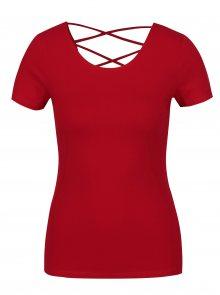 Červené tričko s pásky na zádech TALLY WEiJL