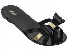 Melissa černé žabky Fluffy II Black/Gold  - 35/36