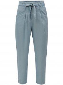 Světle modré volné kalhoty se zavazováním VERO MODA Breeze