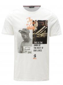Bílé tričko s potiskem ONLY & SONS Gabriel