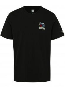 Černé pánské tričko s potiskem na zádech adidas Originals Shackles