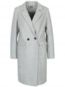 Světle šedý žíhaný kabát ZOOT