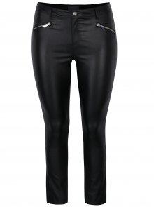 Černé lesklé skinny kalhoty s ozdobnými zipy Dorothy Perkins