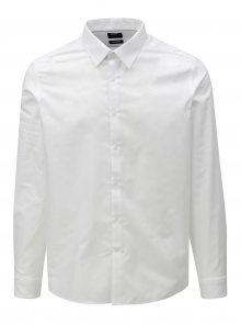 Bílá slim fit formální košile Burton Menswear London