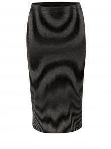 Černá pruhovaná pouzdrová sukně ONLY