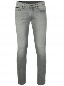 Světle šedé pánské skinny džíny Calvin Klein Jeans