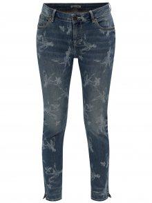 Modré dámské zkrácené super slim fit džíny s nízkým pasem Garcia Jeans Rachelle
