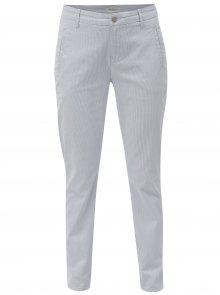 Bílo-modré pruhované chino kalhoty Selected Femme Falma