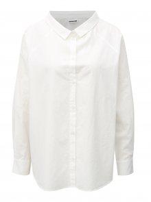 Bílá variabilní oversize košile Noisy May Sade