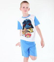 pyžamo chlapecké TV MANIA - Angry Birds/Star Wars - White - SWAB 341 10/140