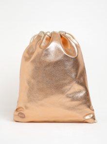 Lesklý dámský koženkový vak v růžovozlaté barvě Mi-Pac Kit Bag Metallic