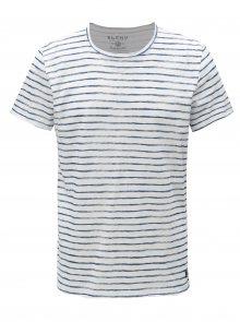 Modro-bílé pruhované slim fit tričko Blend