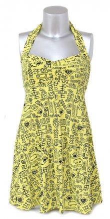 šaty dámské VANS - Street Tags - BRGHT YL XL