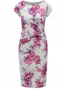 Růžovo-šedé květované pouzdrové šaty Dorothy Perkins