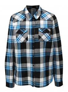 Modro-šedá kostkovaná košile Noisy May Erik