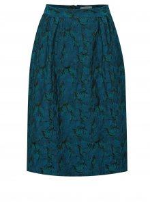 Petrolejová vzorovaná sukně Fever London Josephine