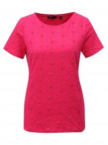 Růžové tričko s výšivkou Dorothy Perkins