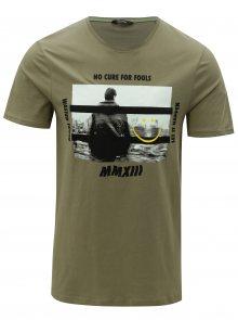 Khaki tričko s potiskem ONLY & SONS Gabriel