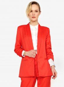 Červené kostýmové sako s 3/4 rukávem MISSGUIDED