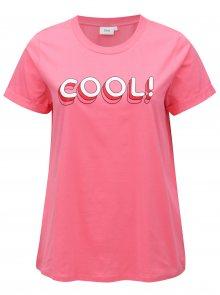Růžové tričko s potiskem Zizzi