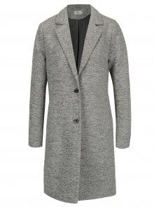 Šedý lehký žíhaný kabát ONLY Carrie