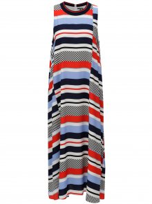 Červeno-modré pruhované šaty Tommy Hilfiger