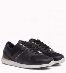 Tommy Hilfiger černé tenisky Light Weight Breathable Sneaker Black