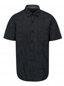 Šedo-černá vzorovaná pánská slim fit košile s.Oliver