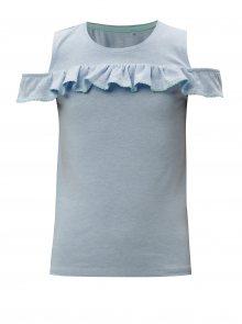 Modré holčičí tričko s volánem  5.10.15.