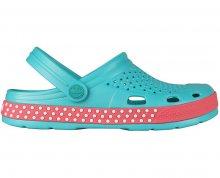 Coqui Dámské pantofle Lindo 6415 Turquoise/New rouge 102358 36