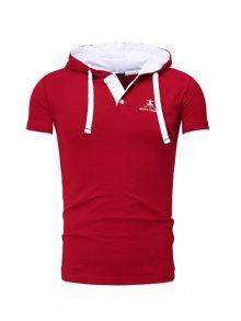 Akito Tanaka Pánské tričko s kapucí 231 - 1_bordeauxrot-weiß