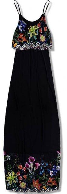Černé maxi šaty s volánem